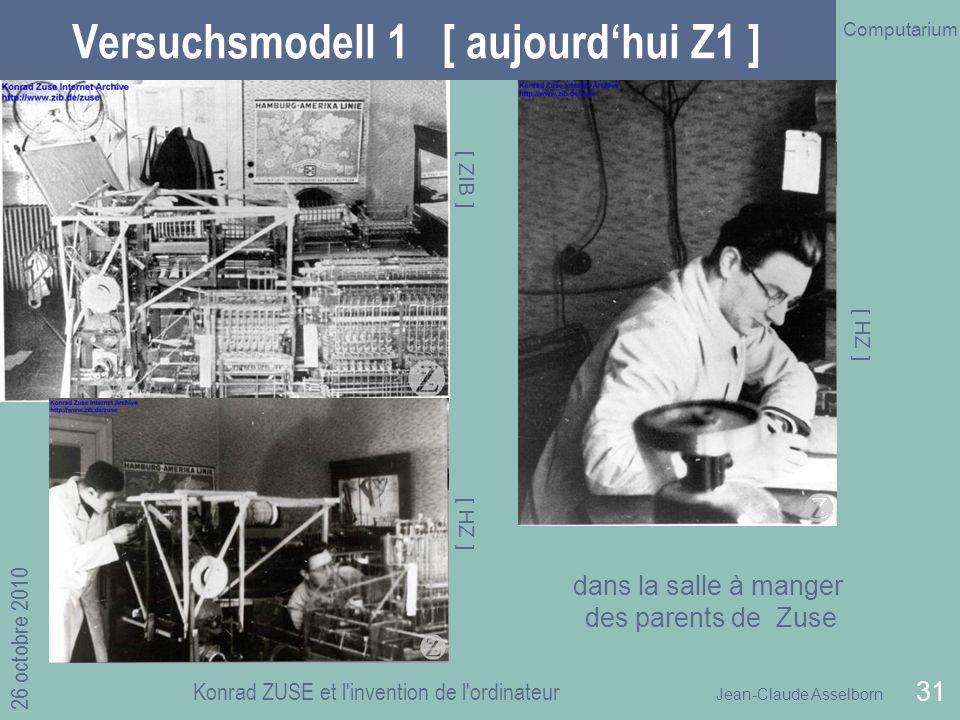Versuchsmodell 1 [ aujourd'hui Z1 ]